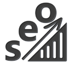 Search Egine Strategies Image of SEO on an increasing graph.