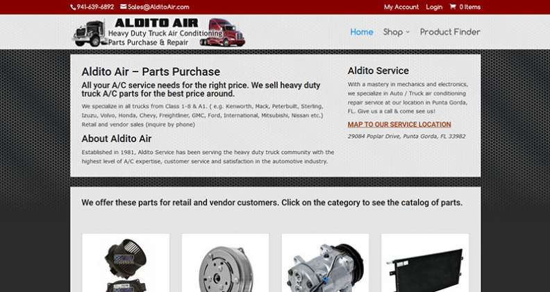Screenshot of the AlditoAir.com website